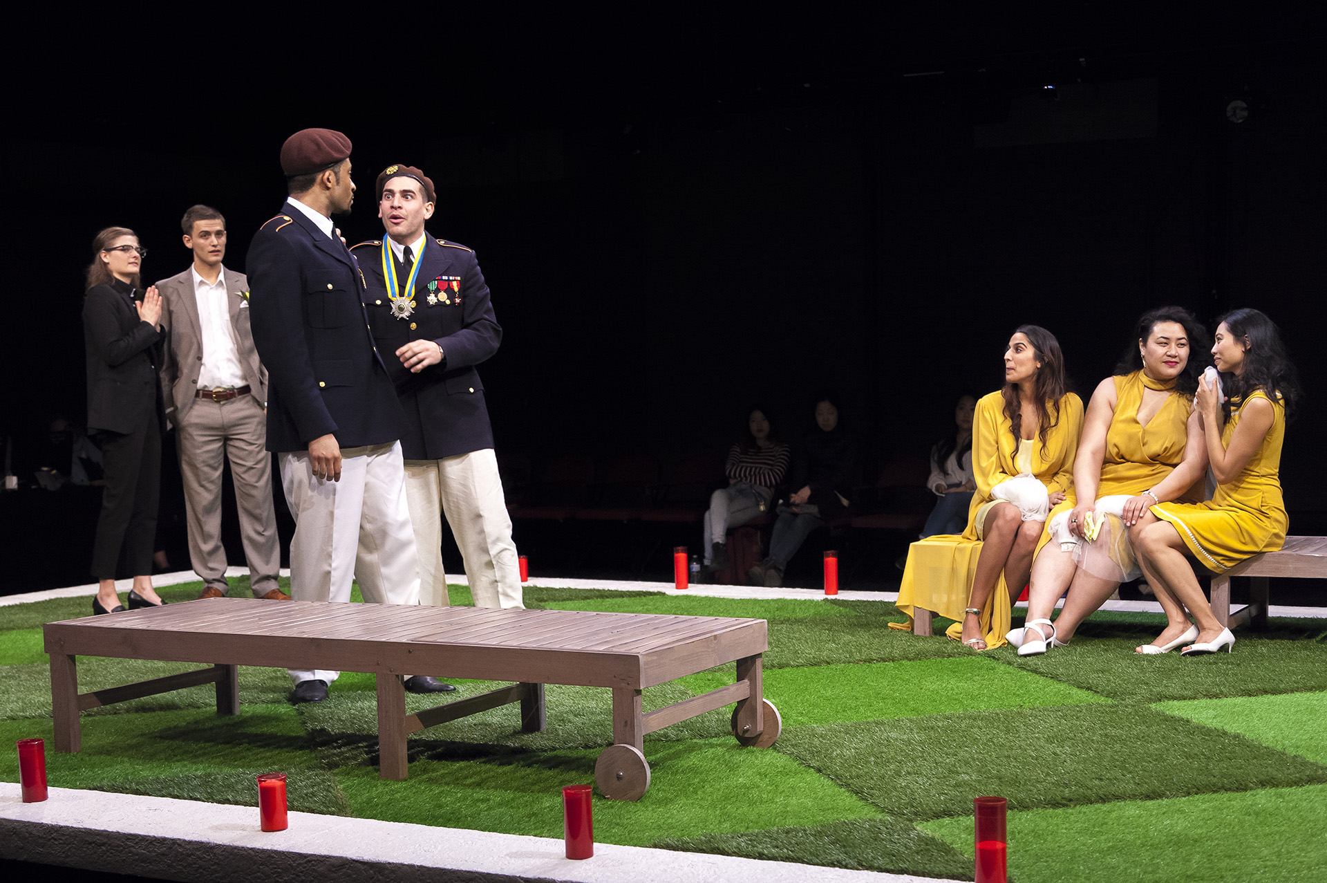 MUCH ADO ABOUT NOTHING by William Shakespeare, directed by Jecamiah M. Ybañez ('19), stage management by Samantha Tirrell ('20), Yale School of Drama, 2018. Photo by Brittany Bland ('19).