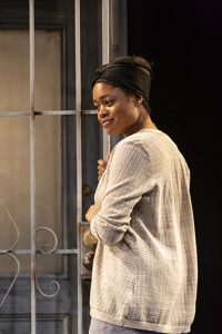 Ciara Monique McMillian ('20) in MARTY AND THE HANDS THAT COULD by Josh Wilder ('18), directed by Lucie Dawkins ('18), Carlotta Festival of New Plays, Yale School of Drama, 2018. Photo by T. Charles Erickson.