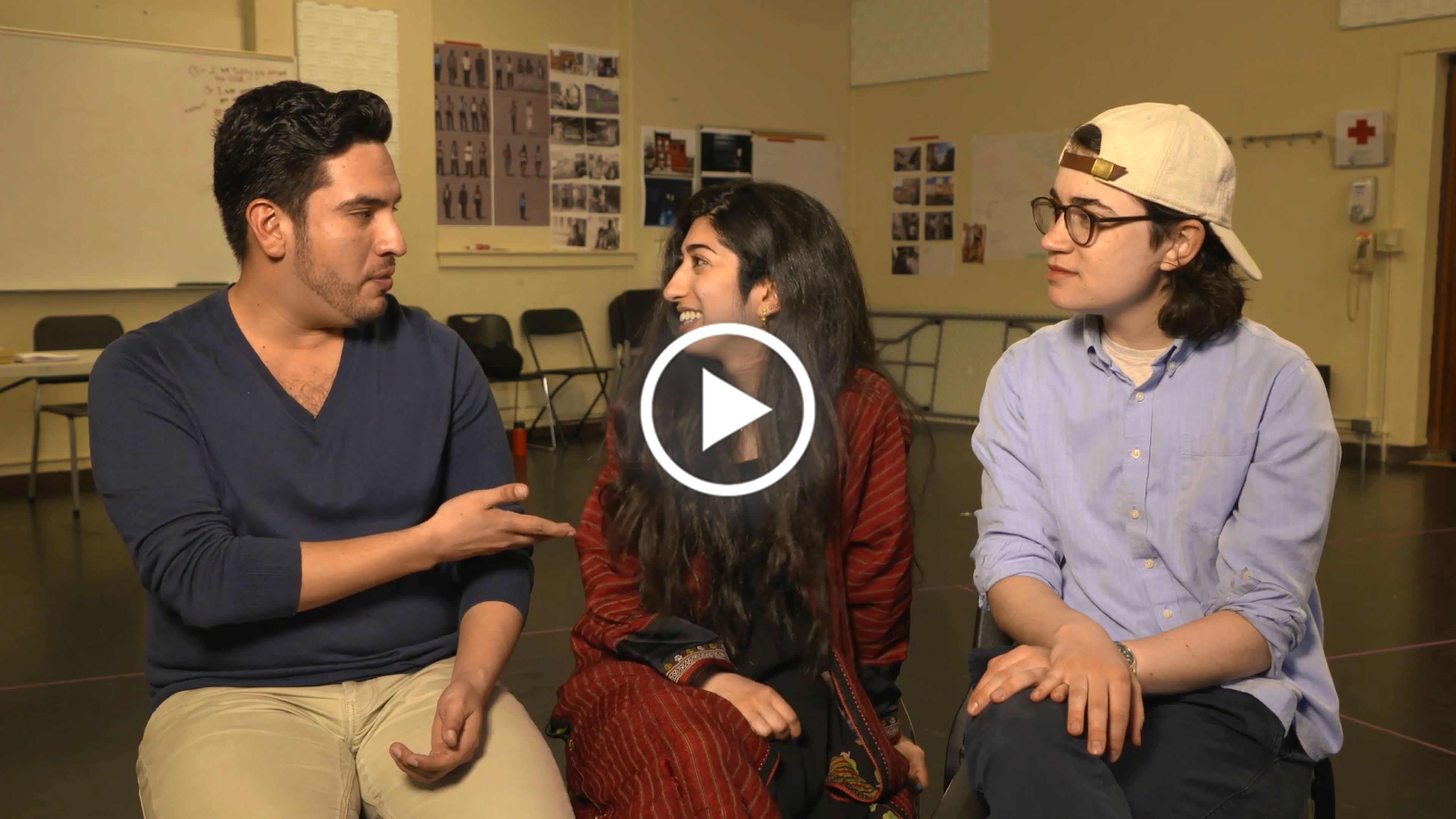 """DIRECTING A Jecamiah M. Ybañez ('19), Shadi Ghaheri ('18), and Em Weinstein ('19) Part 1 """"A common language to tell the stories that I care to tell."""""""