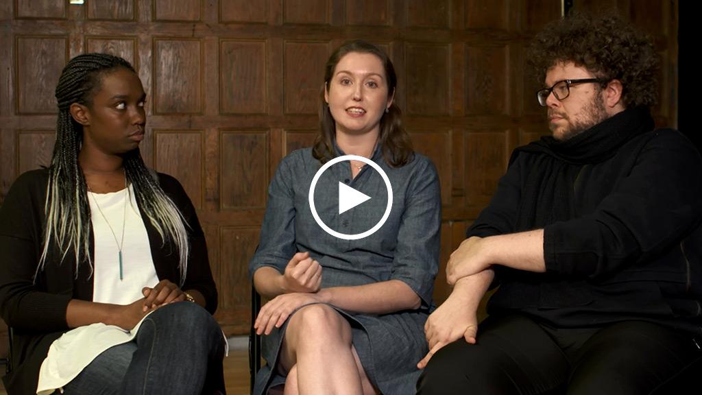 Dani Barlow ('20), Gwyneth Muller ('20), and Will Gaines ('21)